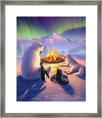 Polar Pals Framed Print by Jerry LoFaro