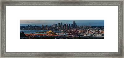 Polar Pioneer Docked In Seattle Framed Print by Mike Reid