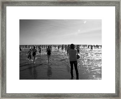 Polar Plunge 2011 Framed Print by Steven Natanson