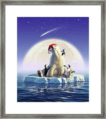 Polar Season Greetings Framed Print