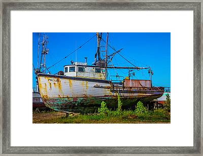 Polaris In Dry Dock Framed Print by Garry Gay