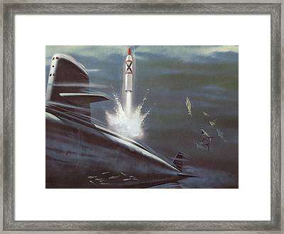 Polaris Surface To Surface Rocket Framed Print