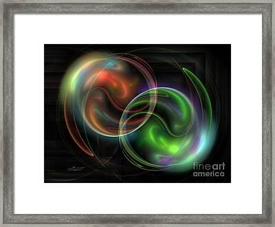 Polarity Framed Print by Jutta Maria Pusl
