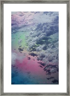 Polarized Caribbean Framed Print