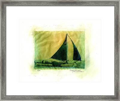 Polaroid Boat Framed Print