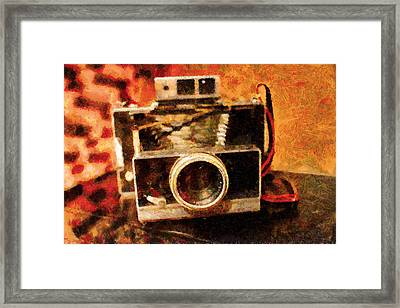 Polaroid Land Camera Model 100 . Painterly . 7d13289 Framed Print by Wingsdomain Art and Photography