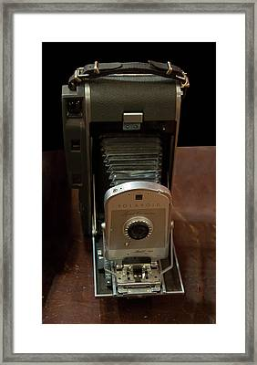 Framed Print featuring the photograph Polaroid Land Camera Model 160 by Chris Flees