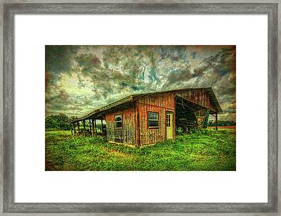 Framed Print featuring the photograph Pole Barn by Lewis Mann