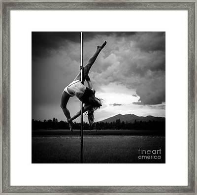 Pole Dance 1 Framed Print by Scott Sawyer