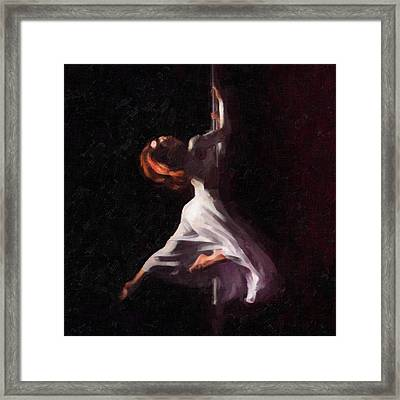 Pole Dance 1 Framed Print by Tilly Williams