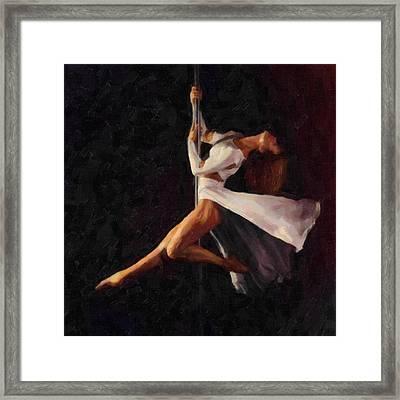 Pole Dance 2 Framed Print by Tilly Williams