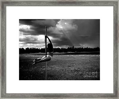 Pole Dance Storm 1 Framed Print by Scott Sawyer