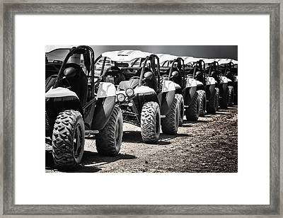 Pole Position Framed Print by Edgar Laureano