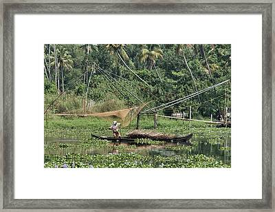 Framed Print featuring the photograph Pole Position by Marion Galt