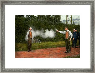 Police - A Real Dummy 1923 Framed Print by Mike Savad