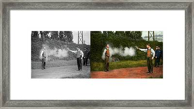 Police - A Real Dummy 1923 - Side By Side Framed Print by Mike Savad
