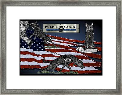 Police Canine Collage Framed Print by Rose Borisow