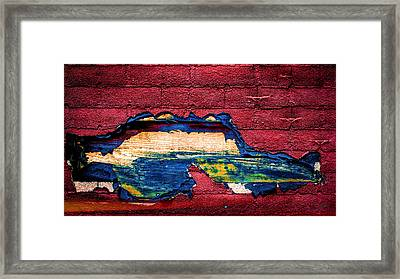 Police Car Abstract Framed Print