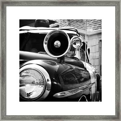 Police Car Siren Framed Print by David Waldo