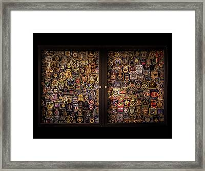 Police Department Patches Framed Print