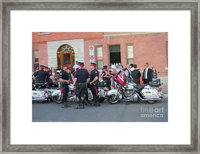 Police In Uniform Framed Print