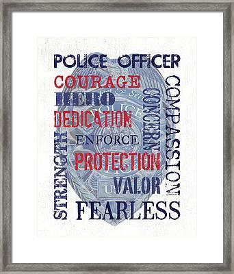 Police Inspirational 1 Framed Print by Debbie DeWitt