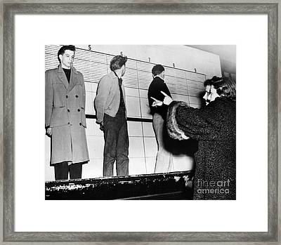 Police Lineup, 1953 Framed Print