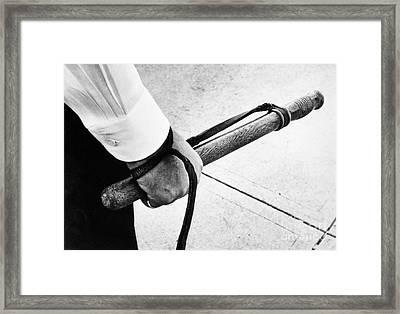 Police Nightstick Framed Print by Granger