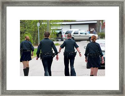 Police Pants Framed Print