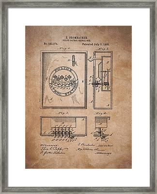 Police Patrol Signal Box Framed Print