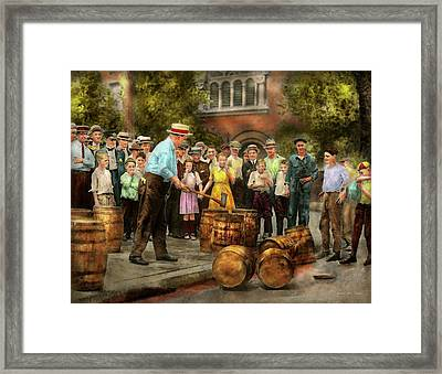 Police - Prohibition - A Smashing Good Time 1921 Framed Print by Mike Savad