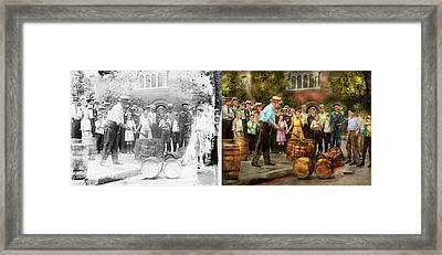 Police - Prohibition - A Smashing Good Time 1921 - Side By Side Framed Print by Mike Savad