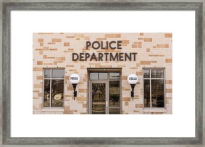 Police Station Building Framed Print