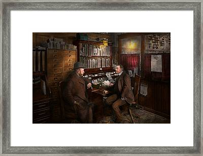 Police - The Private Eye - 1902  Framed Print by Mike Savad