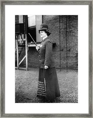 Policewoman, 1909 Framed Print by Granger