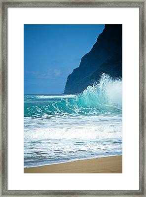 Polihale Beach  Framed Print by Kevin Smith