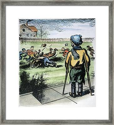 Polio Cartoon, 1957 Framed Print