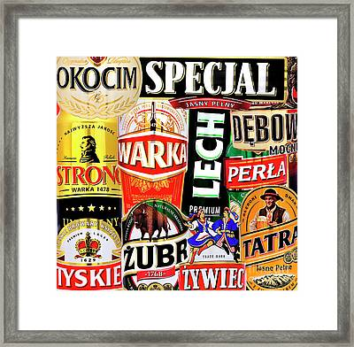 Polish Beercans Framed Print by Phil Robinson