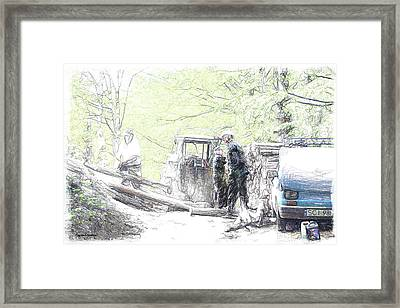 Polish Woodworkers Framed Print by Arie Van Garderen