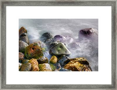 Polished Rocks Framed Print