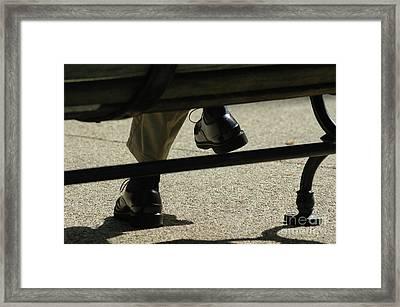 Polished Shoes On Bench Framed Print