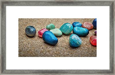 Polished Stones - Photography Framed Print by Ann Powell
