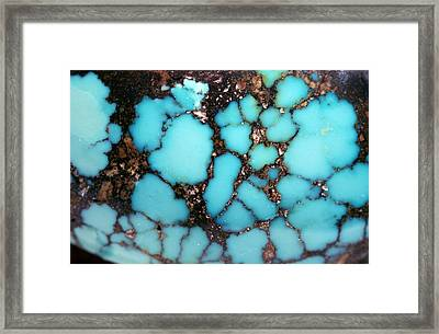 Polished Turquoise Cabochon Framed Print