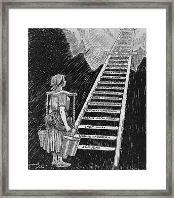 Political Cartoon Entitled, The Sky Is Framed Print by Everett