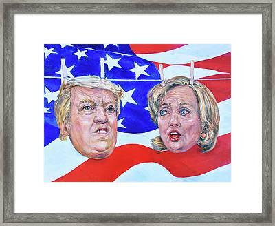 Political Hangups Framed Print