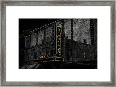 Polk Movie House Framed Print by David Lee Thompson
