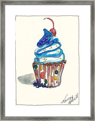 Polka Dot Cupcake Framed Print by Michele Hollister - for Nancy Asbell