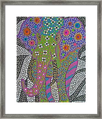 Polka Dot Ganesha Framed Print