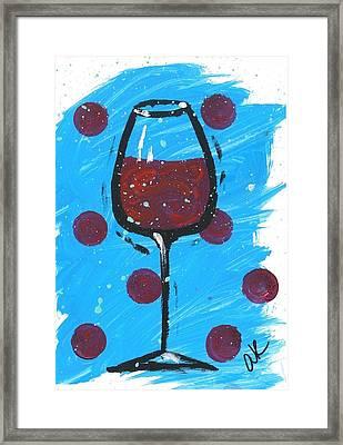 Polka Dot Merlot Framed Print by Alyson Appleton