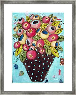 Polka Dot Pot Framed Print by Karla Gerard